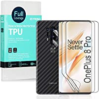 Ibywind Clear TPU Film Screen Protector for OnePlus 8 Pro,[Pack of 2],[Camera Lens Protector][Back Carbon Fiber Film...