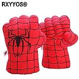 RXYYOS 1 par de guantes de boxeo para niños, juguetes de Spiderman Super Hero Spider Manos, puños, súper hombre araña, disfraz de hombre araña, muñecos para niños, niñas y adolescentes (rojo)
