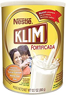 Nestle Klim Instant Dry Whole Milk Powder Fortificada, 12.7 Ounce (Pack of 3)