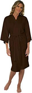Canyon Rose Cloud 9 Women's Plush Microfiber Full Length Spa Robe, Chocolate Brown, M/L