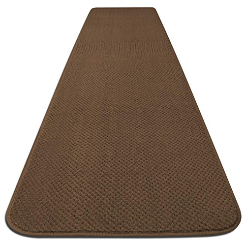 House, Home and More Skid-Resistant Carpet Runner - Toffee Brown - 6 Feet X 27 Inches