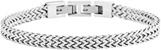 Men's Stainless Steel Double Franco Chain Bracelet with...