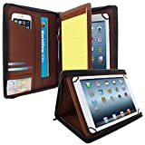 KHOMO Universal Tablet Padfolio Zippered Case for 8.5'' up to 11'' tablets - Black- Compatible with iPad Air, Pro 11 and many others