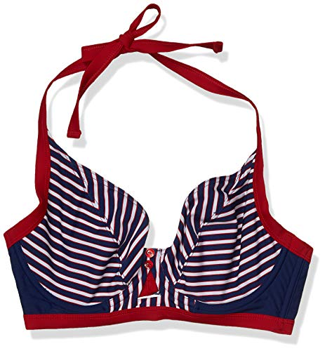 Curvy Kate womens's Ahoy Halterneck Bikini, Nautical Stripe, 32H