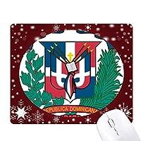 ドミニカの共和国の国章の国 オフィス用雪ゴムマウスパッド
