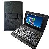 Per schermo Raspberry Pi 4 - Touchscreen da 7 pollici con custodia in pelle e tastiera USB separata - Display IPS 1024x600 - Mini monitor per Raspberry Pi/Laptop/PC Windows