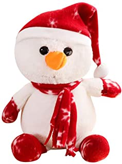 JunLai888 Xmas Snowball Plush Stuffed Animal Snowman Christmas Plush Toys 10 inches
