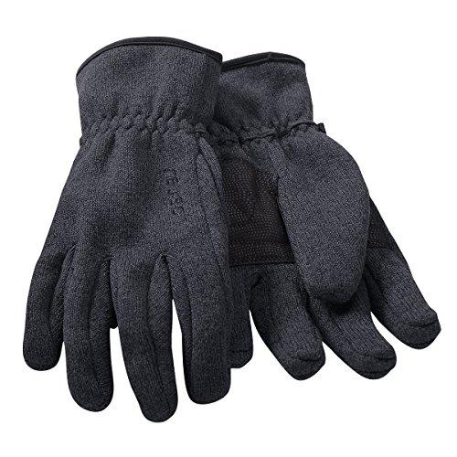 Brigg Reusch Strickfleece Handschuhe anthrazit-schwarz, Handschuhgröße:9