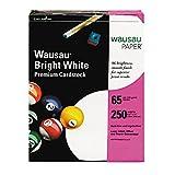 Neenah Premium cardstock, 96Brightness, 29,5kilogram, lettera, bianco brillante, 250fogli per confezione (91904) (3, 250fogli)