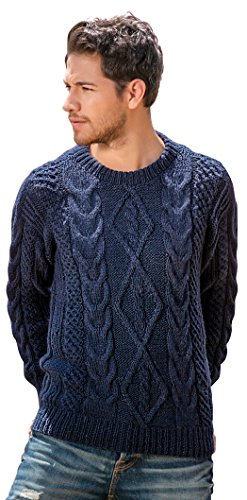 Gamboa - Handwoven Alpaca Sweater - Cable Knit Alpaca Sweater