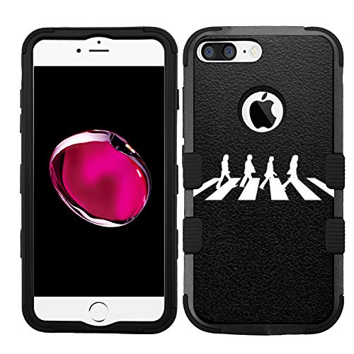 for iPhone 8 Plus, iPhone 7 Plus, Hard+Rubber Dual Layer Hybrid Shockproof Rugged Armor Cover Case - Beatles Abbey Road #Z