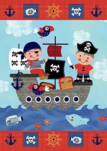 Odeletqweenry Tuin Vlag Piraat Schip Kinderen Zomer Zee Tweezijdig Huis Vlag 12,5