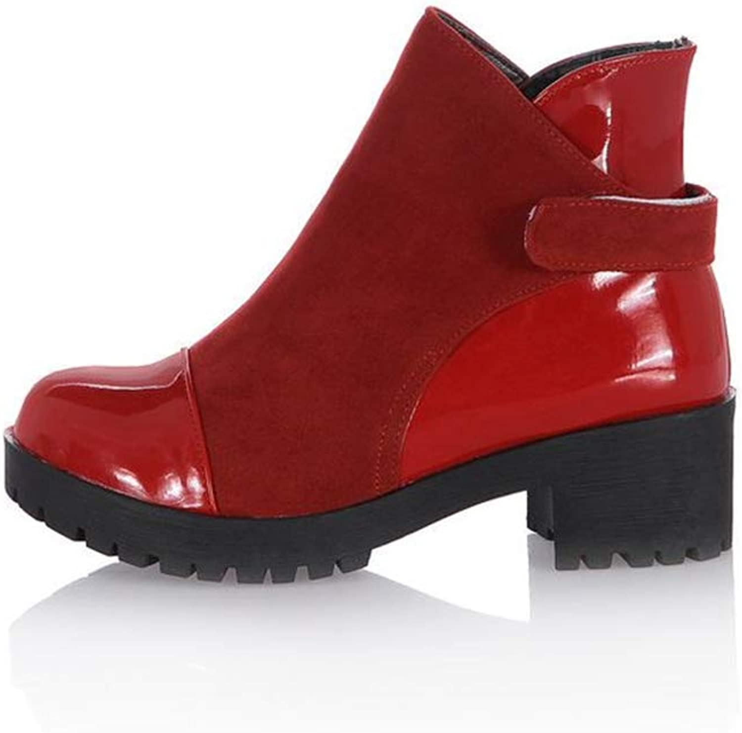Casual Western Ankle Bootie - Comfortable Closed Toe shoes - Women Boot