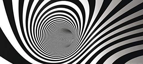 AG Design FTG 0907 zwart-wit-spiraal tunnel, papier fotobehang - 202x90 cm - 1 stuk, papier, multicolor, 0,1 x 202 x 90 cm