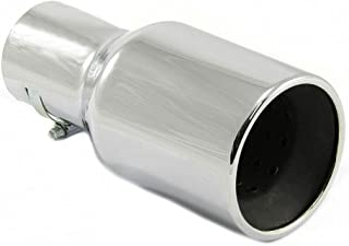 Autohobby 147 Auspuffblende Auspuff Universell Schalldampf Endrohr Blende Edelstahl bis 57mm Ø Chrom