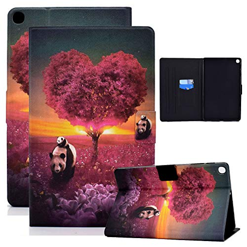 Coopts Galaxy Tab A 10.1 Case 2019 Model T510 T515 T517, Folio Stand PU Leather Magnetic Closure Cover with Card Slots Full Protective Shell Case for Samsung Galaxy Tab A SM-T510 2019, Panda Tree