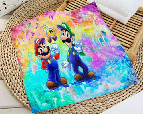MIAOGOU Super Mario Bros Handtücher Custom Super Mario Bros Print Quadratische Handtücher Mikrofaser Absorbent Trocknen Badetücher Waschlappen