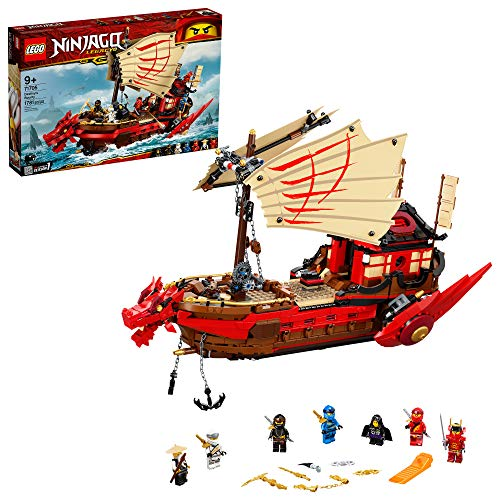 LEGO NINJAGO Legacy Destiny's Bounty 71705 Ninja Toy Building Kit Featuring Ninja Action Figures, New 2021 (1,781 Pieces)