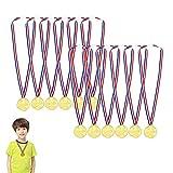 Ganadores Medallas Oro,Medallas de Oro Deportiva,Medallas para Niños Metal,Cintas para Niños Premios,Oro Ganador,Medallas Plastico,Juguetes...