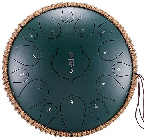 Tambor de la lengua de acero, 13 Pulgadas 15 Nota de acero Lengua Percusión Instrumento Lotus Mano Pan de tambor con el tambor de mazos lleva el bolso Tambor de forma de plato, tambor de mano.