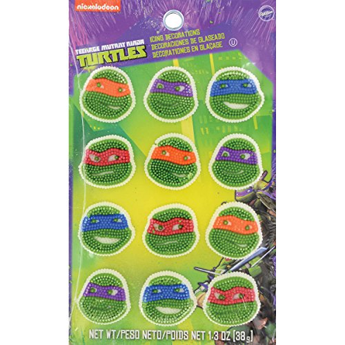 Wilton 710-7745 12 Count Teenage Mutant Ninja Turtles Icing Decorations