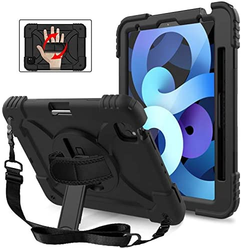 MENZO New iPad Air 4 Case with Shoulder Hand Strap 3 Layer Rugged Protective iPad Air Case with product image