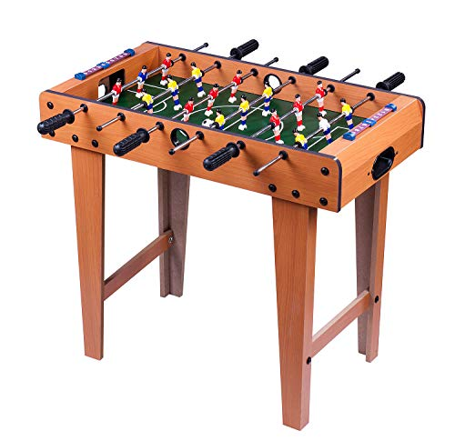 Taylor & Brown Deluxe Free Standing Football Table Soccer Game with Legs 69x62x37cm Wooden Frame 6 Rows Foosball Family Fun Party Xmas Gift Gaming Table