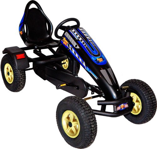 Best Bargain Prime Karts Charger.BKYP Charger Pedal Kart44; Black-Yellow Wheels