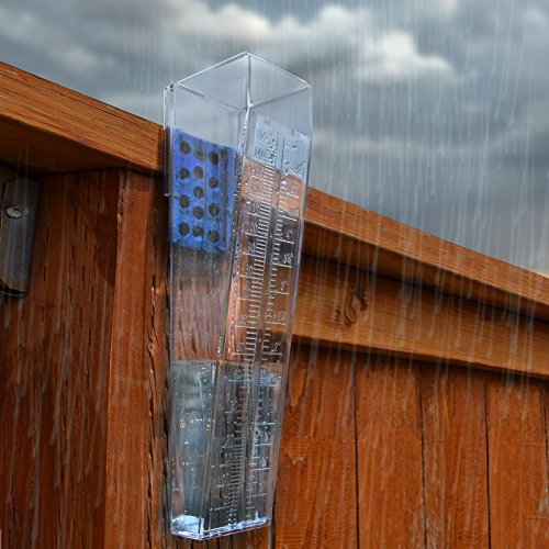 OUTWEST TRADING Professional Outdoor Rain Gauge for Yard, Heavy Duty.