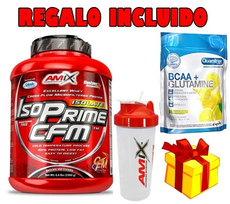 AMIX ISO PRIME CFM 2KG CHOCOLATE + BCAA GLUTAMIN 500G + BATTERY