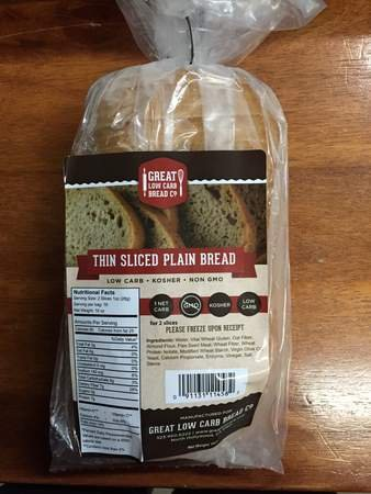Great Low Carb Bread Co. Thin-sliced Plain Bread 1 Loaf
