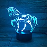 3D Illusion Lampe LED Nachtlicht, EASEHOME Optische 3D-Illusions-Lampen Tischlampe Nachtlichter 7...