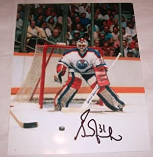 Grant Fuhr Autographed Edmonton Oilers 8x10 Photo W/PROOF, Picture of Grant Signing For Us, 5x Stanley Cup Champion, St. Louis Blues, Calgary Flames, Buffalo Sabres, Los Angeles Kings