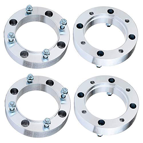 "ECCPP 4x 1.5 inch 38mm 4 Lugs Wheel Spacers 4x156 to 4x156mm 131mm CB fits for Pol-aris Outlaw 500 525 for Pol-aris RZR 800 for Po-laris Sportsman 800 500 with 3/8""x24 Studs"