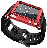 LunaTik Minimal Correa de muñeca para iPod Nano 6G con Reloj, Color Rojo [Importado de Reino Unido]