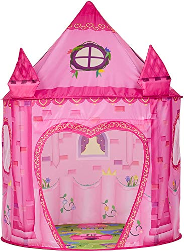 Princess Play Tent Playhouse | Unique Castle Design for Girls | Kids Indoor and Outdoor Fun, Imaginative Games & Gift | Foldable Playhouse Toy + Carry Bag for Girls & Boys | by Imagenius Toys