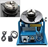 TBVECHI 10KG Rotary Welding Positioner Turntable Table Mini 0 to 90º 180mm Welding Positioner Positioning Turntable 2.5' 3 Jaw Chuck 2-10 r/min Portable Welder Positioner Turntable Machine 110V