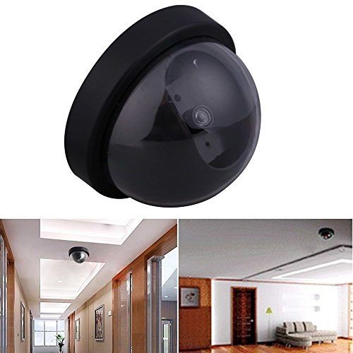 Dummy Security Camera Fake Dome Surveillance Cameras Simulated Infrared LEDs with Red Flashing Light For you intercom House Protection