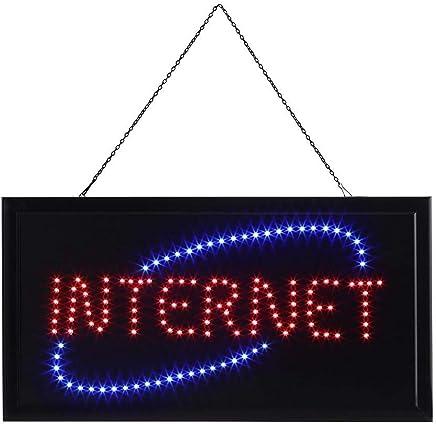 539ac246bca7e6 Panneau Lumineux Publicitaire, Large Brillante Enseigne lumineuse à LED  Néon Signe Panneau de INTERNET-