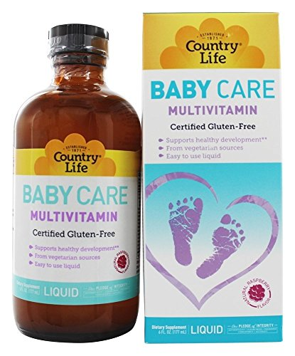 Country Life Baby Care Multivitamin 6 fl oz - 35 Servings - Supports Healthy Development - from Vegetarian Sources