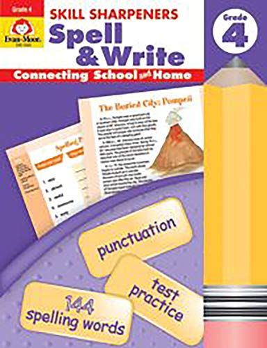 Evan-Moor Skill Sharpeners: Spell & Write, Grade 4 [Blu-ray]