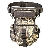 YFNT Exterior táctico Impermeable Pierna Bolsa Banana para Deporte Caminata Camping Militar Bolsa Molle cinturón Bolsa Moto para (ACU Camouflage)