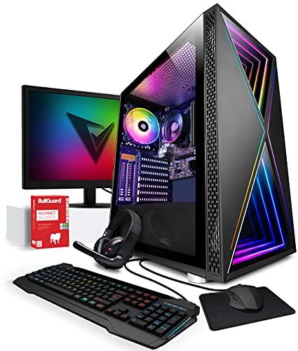 Vibox I-32 PC Gamer - Écran Pack - Quad Core Ryzen Processeur - Radeon Vega 8 Graphique - 16Go RAM - 240Go SSD - 1To Disque Dur - Windows 10 - WiFi