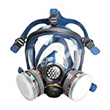 WORKCARE Full Face Respirator, Anti-dust Face Cover,Breathing Respirators for Painting Spray Welding Industrial Accessories