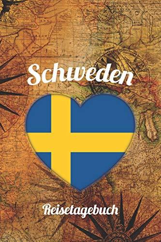 Schweden Reisetagebuch: A5 Reise Journal I Notizbuch I Urlaubs Planer I Road trip Planer I Travel notebook I 6X9 Pocket journal I Geschenk für Backpacker