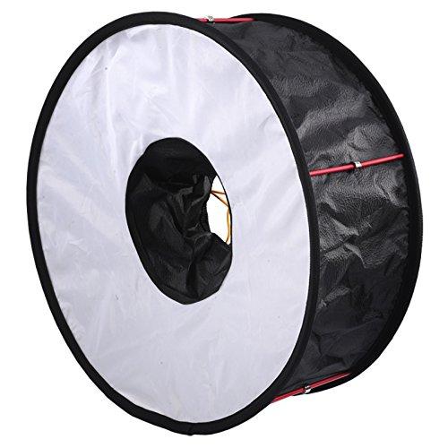 Mejorado 45cm easy-fold Ring Flash Reflector Softbox–Difusor para fotografías macro para canon, Nikon, Pentax Metz Olympus Speedlight