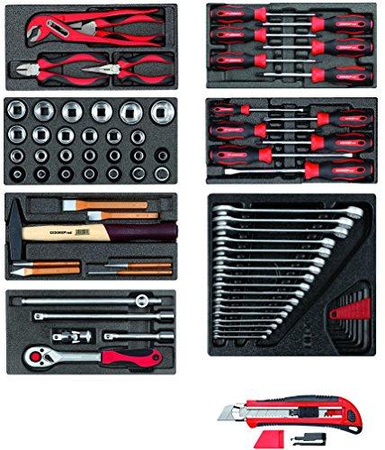 Gedore Red gereedschapsset in schuimstofmodule 81-teilig