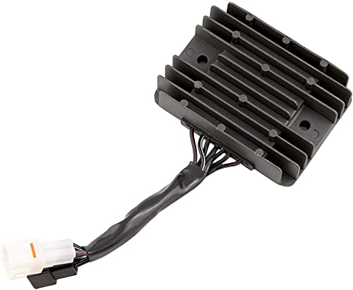 high quality Mallofusa Motorcycle Aluminum Voltage high quality Regulator Rectifier Compatible new arrival for SUZUKI GSXR1000 2005 2006 2007 2008 K5 K7 Black sale