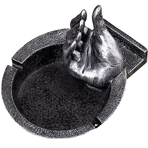 Adornos Retro cenicero Dedo Soporte para teléfono móvil con cenicero Multifuncional Adecuado para decoración Escritorio en Interiores y Exteriores cenicero Decorativo