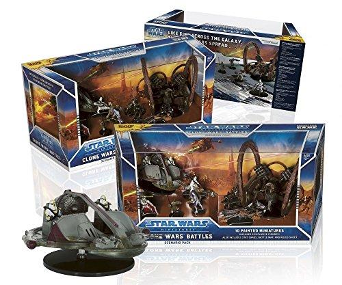 WOTC Star Wars Clone Wars Battles Scenario Pack Ultimate Miniatures Set